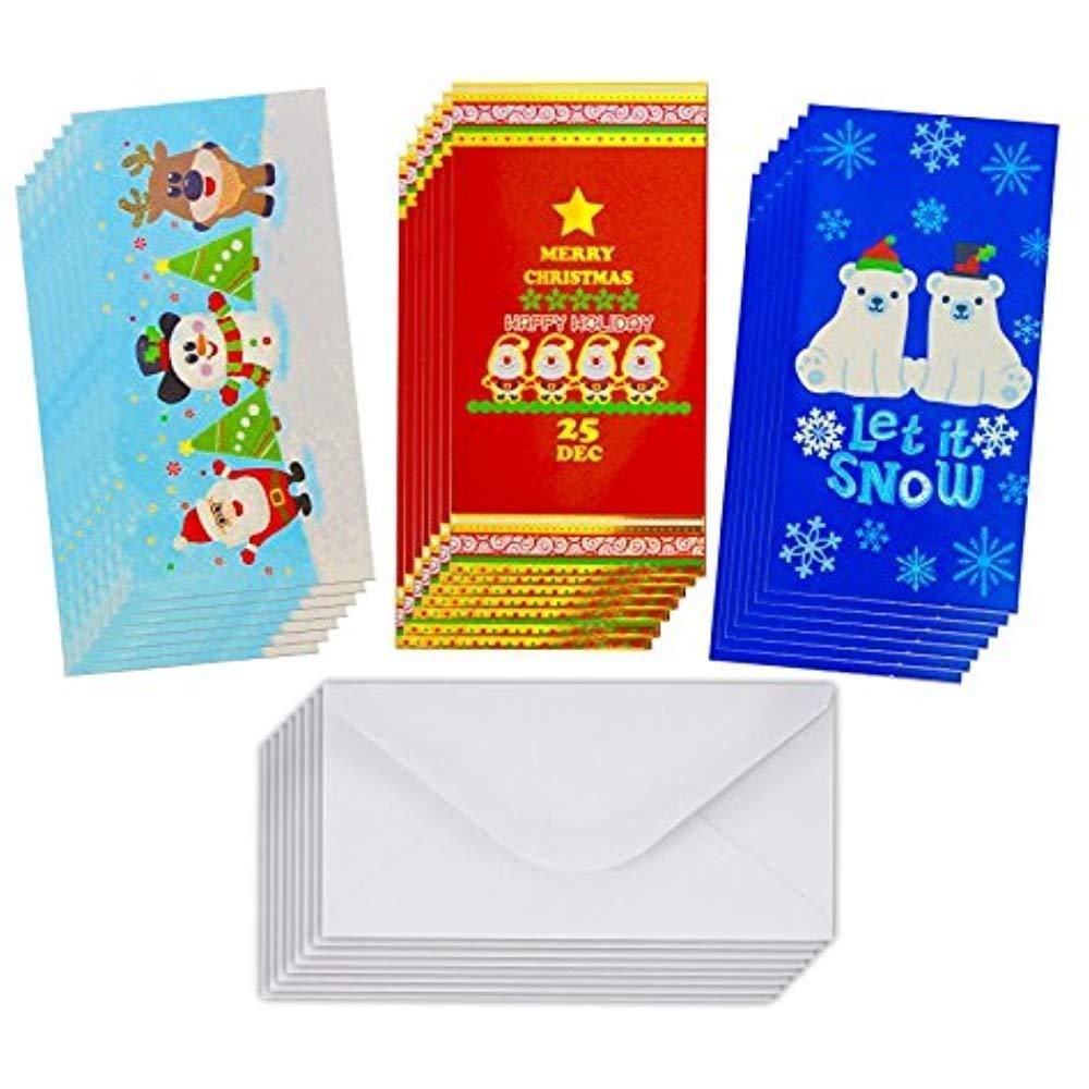 Christmas gift card holders with envelopes christmas