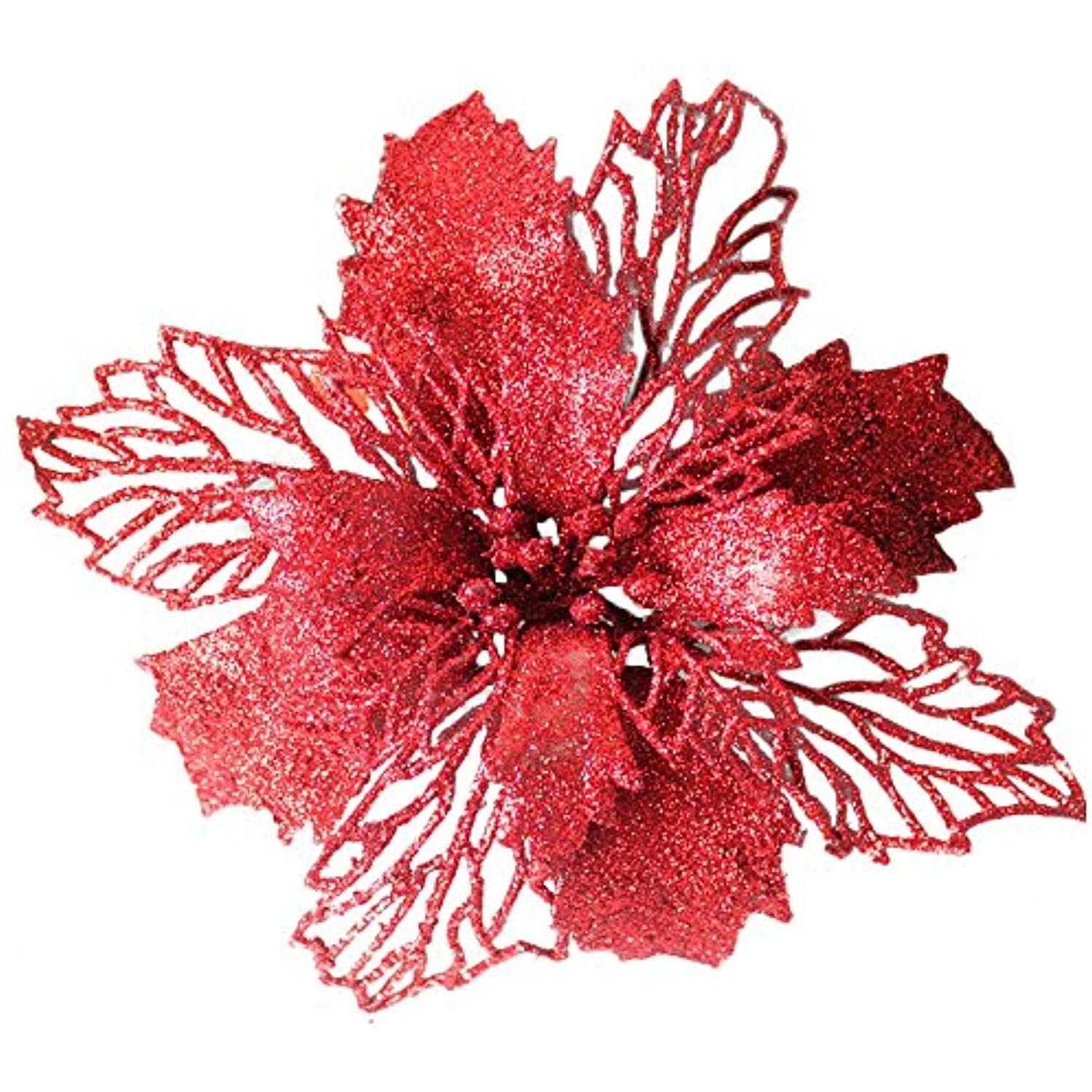 982ab903e6ec JPJ(TM) New â ¤Christmas Tree Ornamentâ ¤1pcs Home Hot Fashion Romantic  Rosette Hanging Charm Party Decoration Christmas Tree Ornament Flower (Red)  >>> Be ...