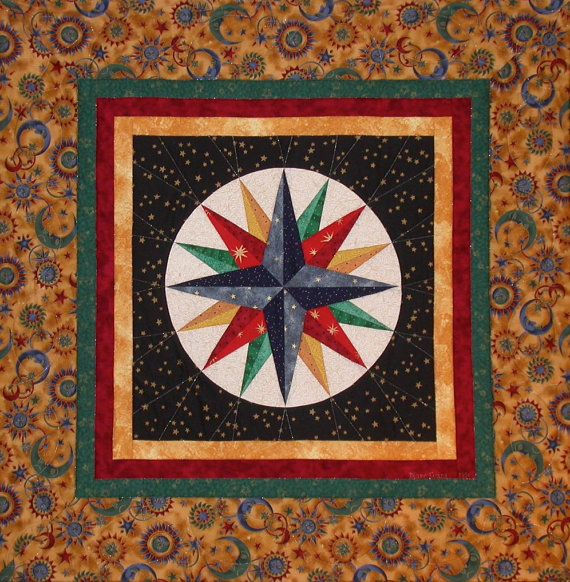 Quilted Fiber Art Wallhanging Good Morning by DEsignedByDianeEvans
