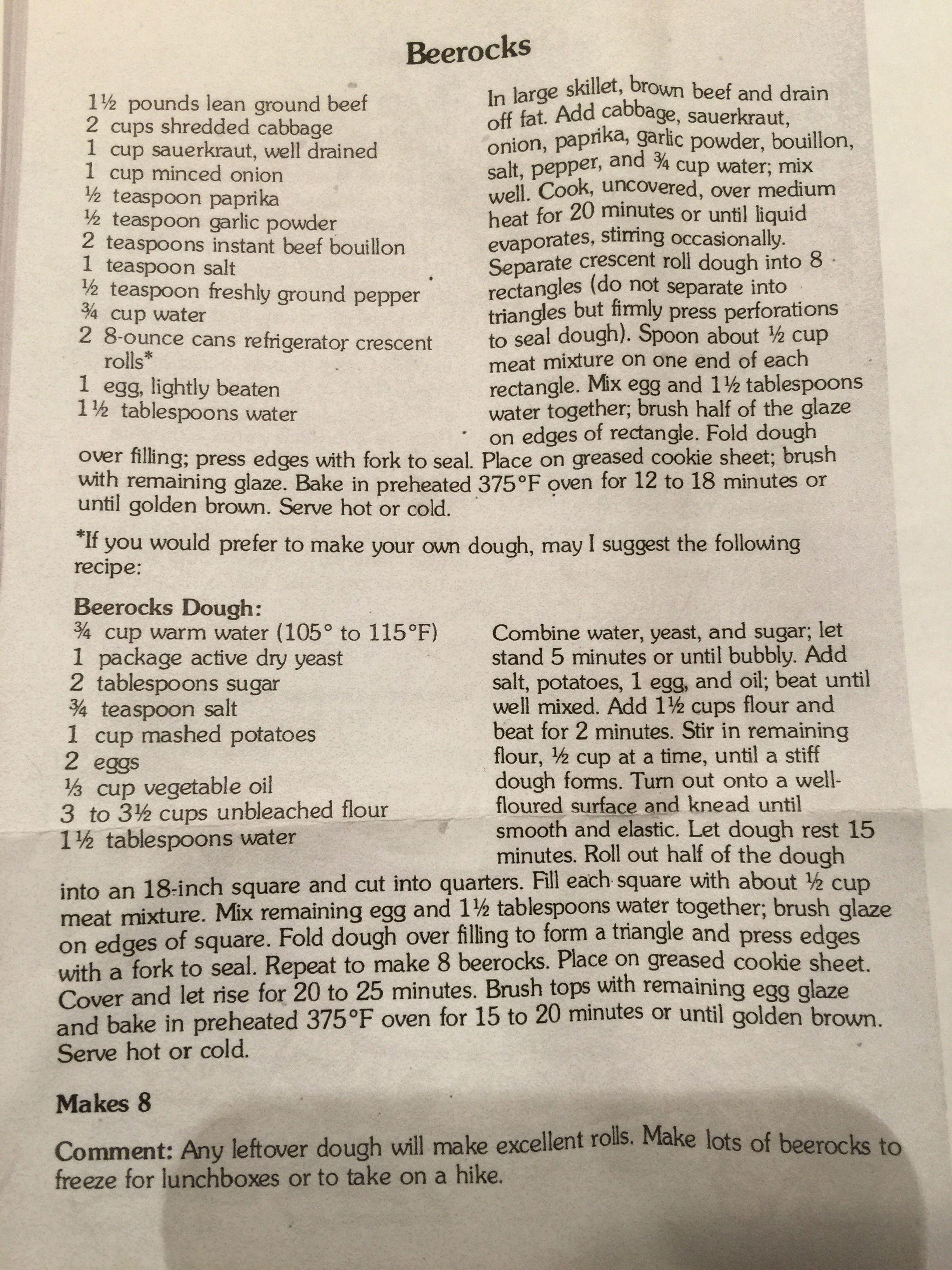 Bierocks (With images) Bierocks recipe, Beirocks recipe