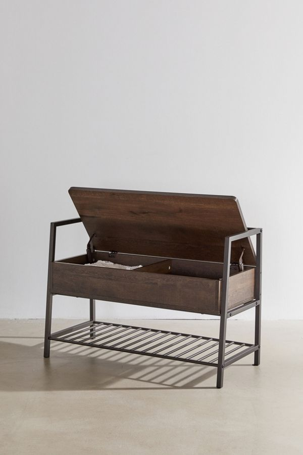 Florence Storage Bench In 2020 Small Storage Bench Entryway Bench Storage Modern Storage Bench