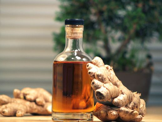 DIY Homemade Ginger Liqueur // 2 ounces ginger root 1 vanilla bean 1 cup sugar 1 1/2 cups water 1 orange 1 1/2 cups brandy