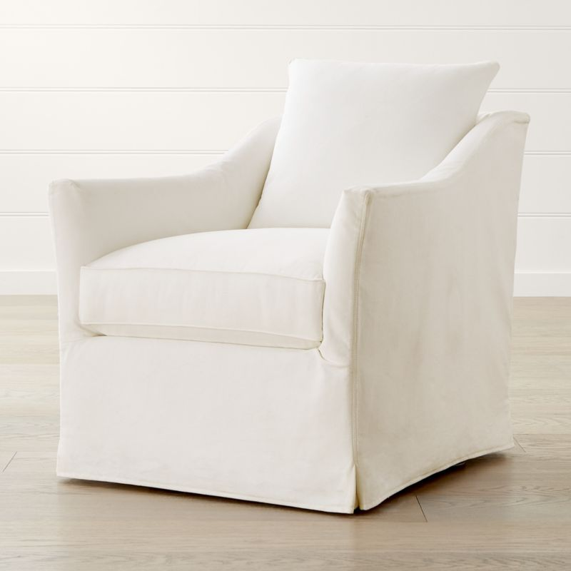 Keely slipcovered chair reviews crate and barrel with