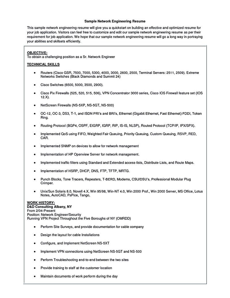 Network Security Engineer Resume Network Engineer Resume