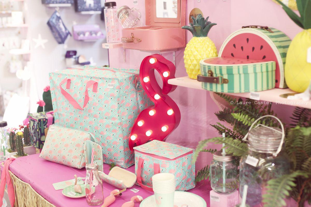 Déco estivale pour pique-nique (flamant rose pastèque ananas