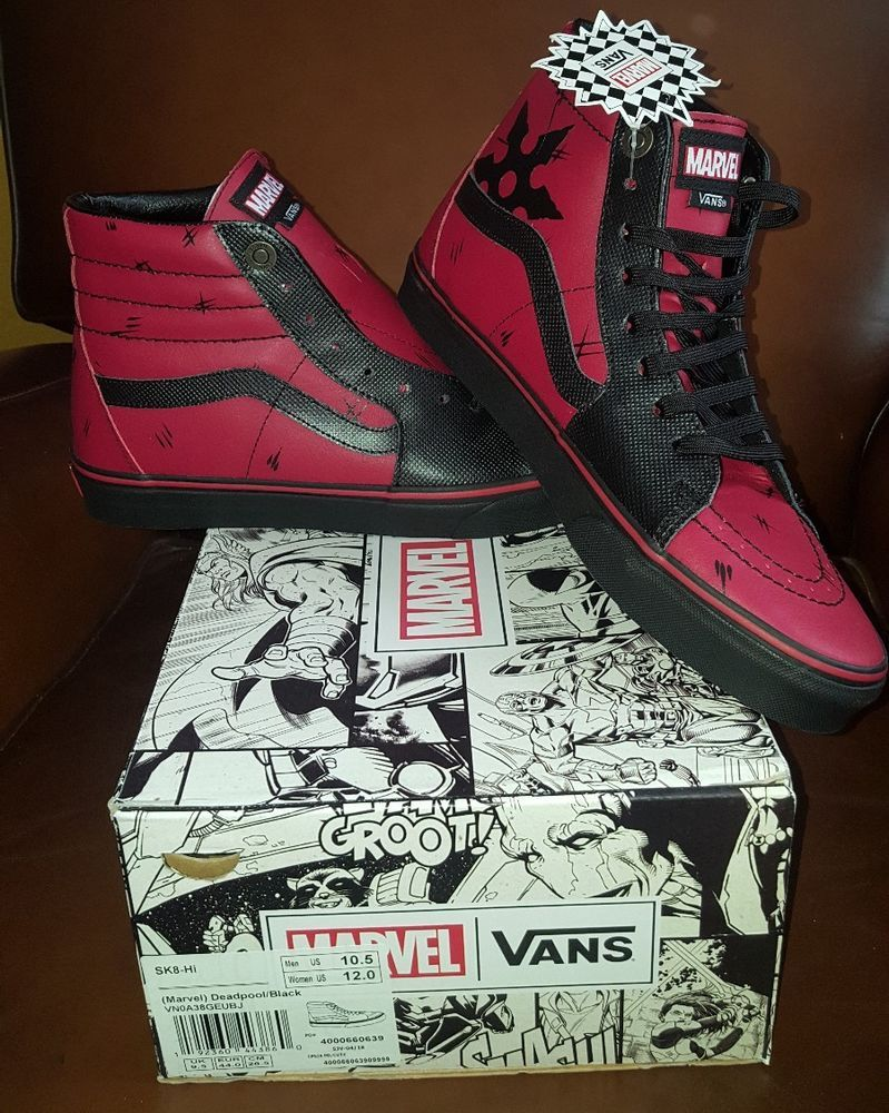 f5eab504d8b Mens VANS SK8-HI Marvel Deadpool Limited Edition Leather Black Size 11.5  shoes Vans Sk8