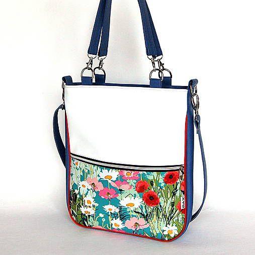 BAX / Basic - Zipp - Modrá s kvetmi