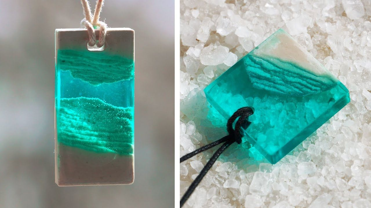 Set of 6 UV resin pendants for jewelry making blue green red
