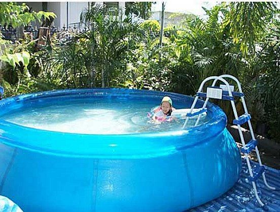 Round Design Above Ground Swimming Pools Idea For Kids Pools