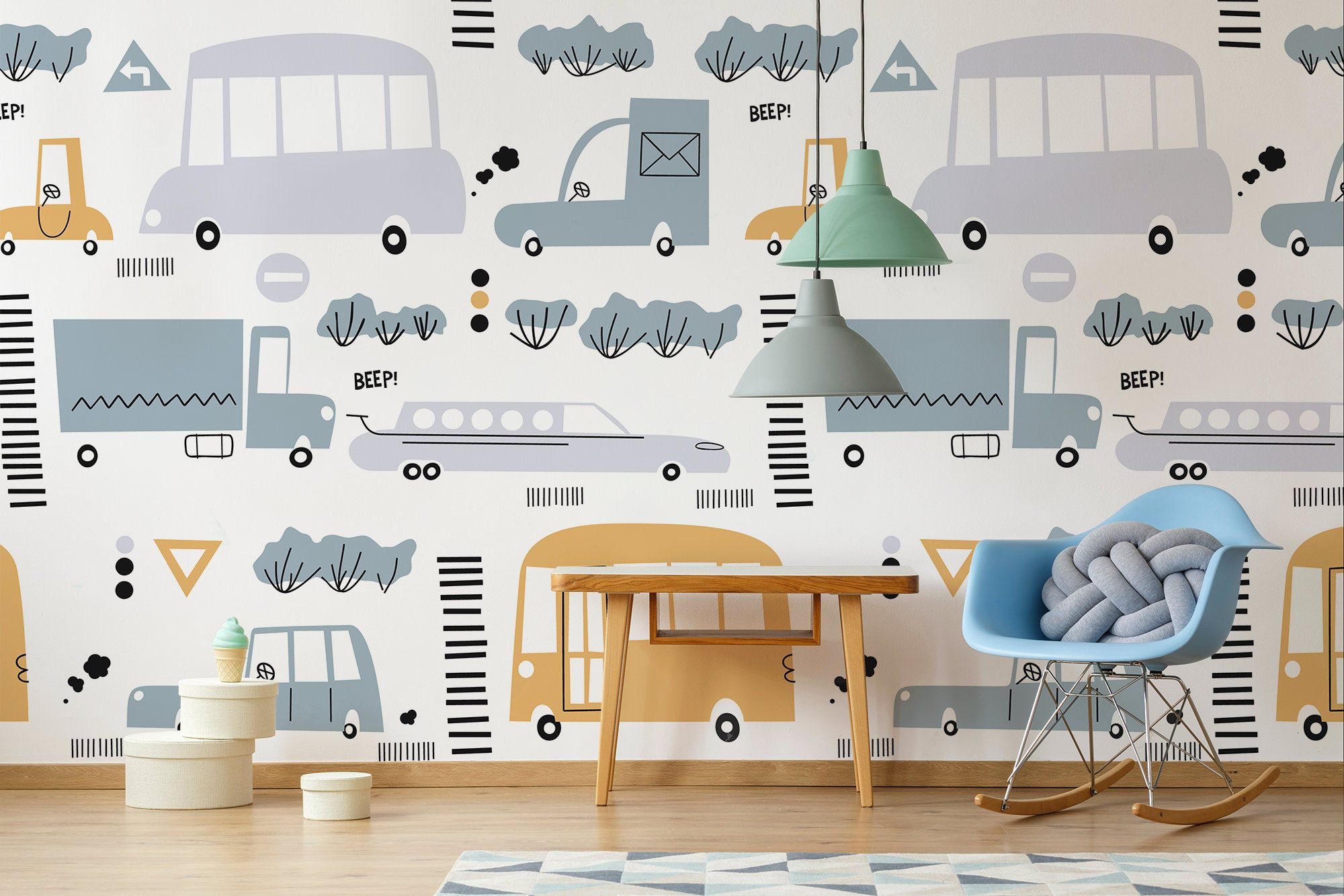 Cars Wallpaper Removable Wall Decal Cute Childish Pattern Etsy Boys Room Wallpaper Removable Wall Decals Boy S Room