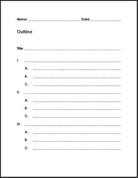 Free Printable Blank Outline Worksheets Pinterest Outlines - blank outline template