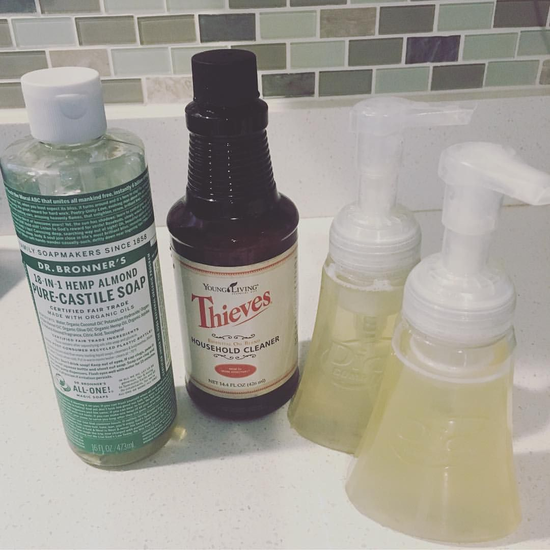 Diy foaming hand soap with thieves essential oil diy