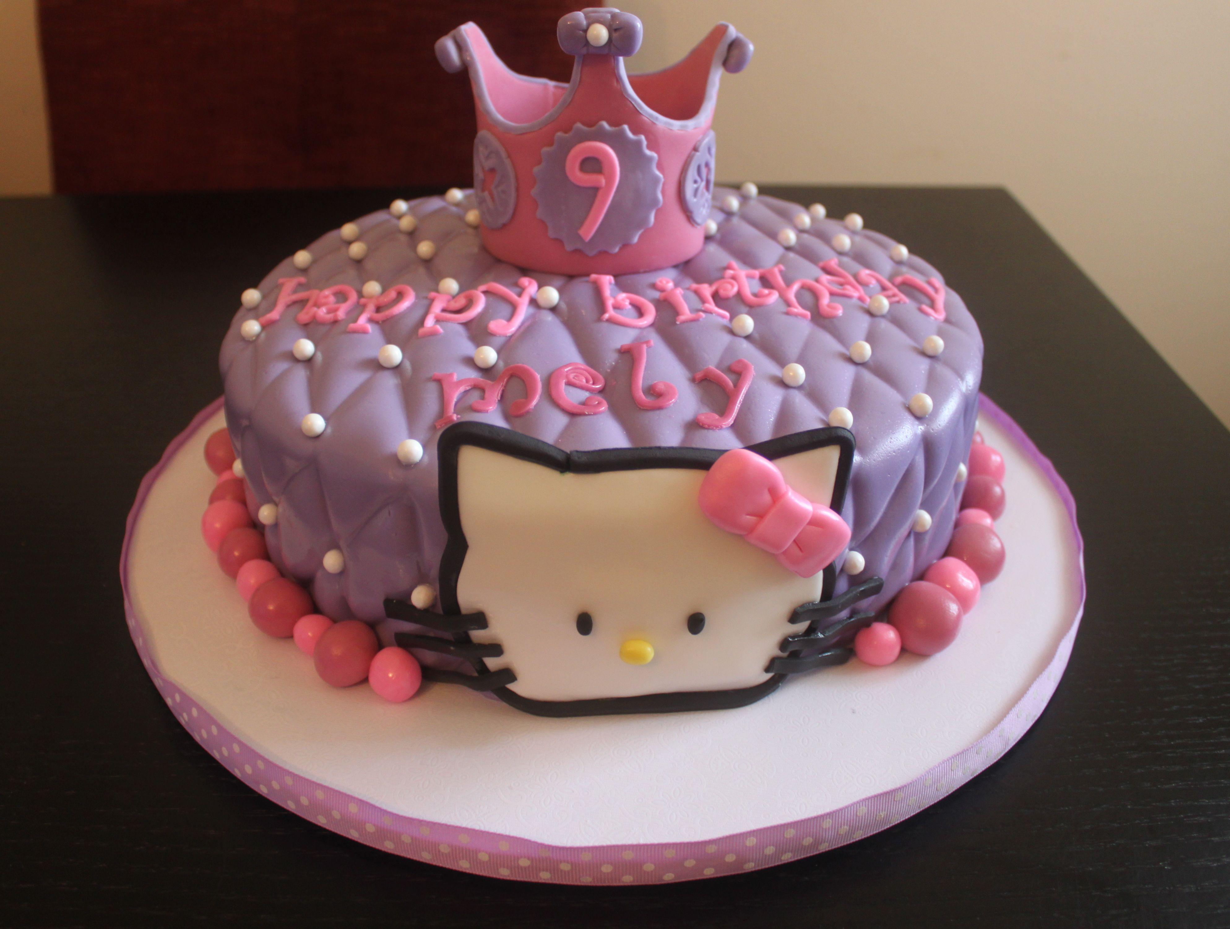 Princess/Hello Kitty cake | Cake, Cat cake, Hello kitty cake