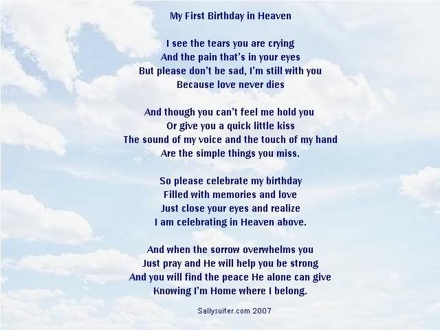 Birthday In Heaven Poem This Is What Tod Would Say Birthday In