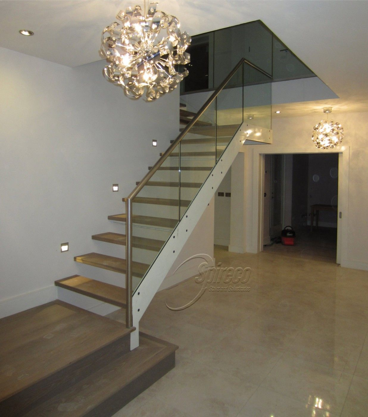 Floating stairs spireco spiral stairs contemporary Floating stairs