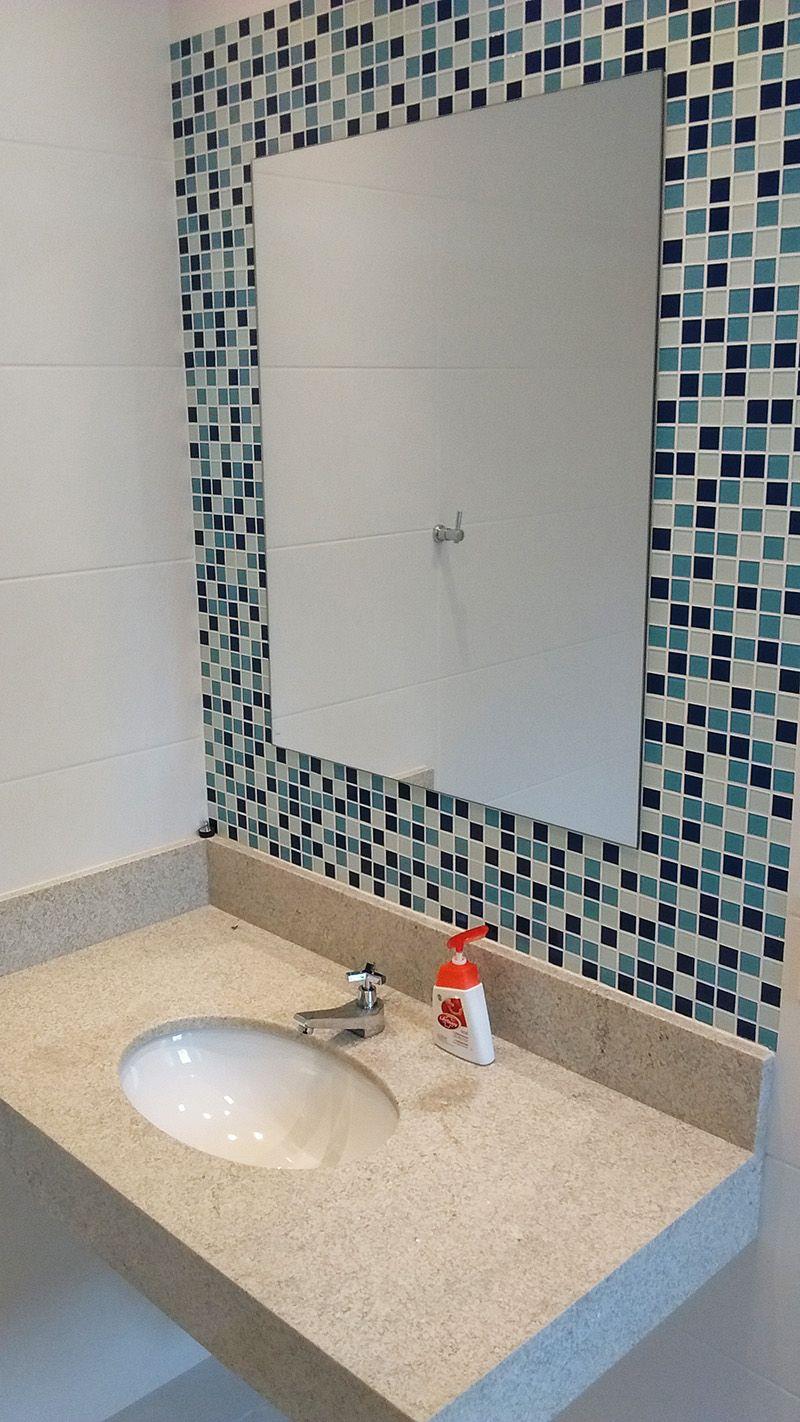 Banheiro Infantil Bancada Em Granito Branco Itaunas Cuba E