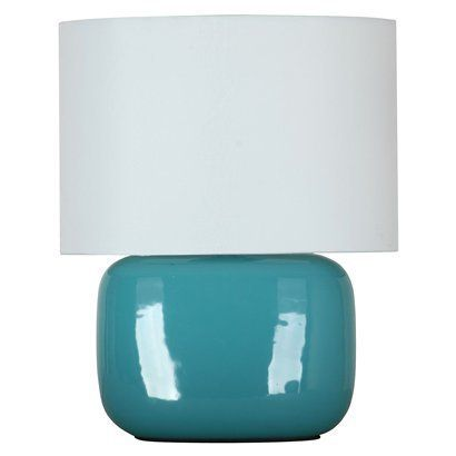 Target Sea Going Solid Shade Ceramic Lamp Ceramic Lamp Lamp Teal Lamp