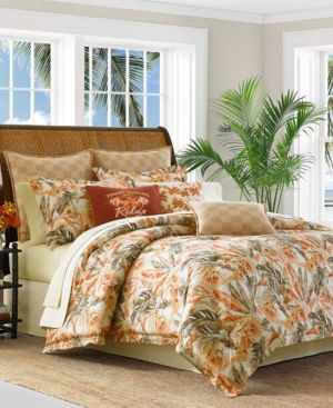 Tommy Bahama Home Kamari 3 Pc Full Queen Duvet Cover Set Orange