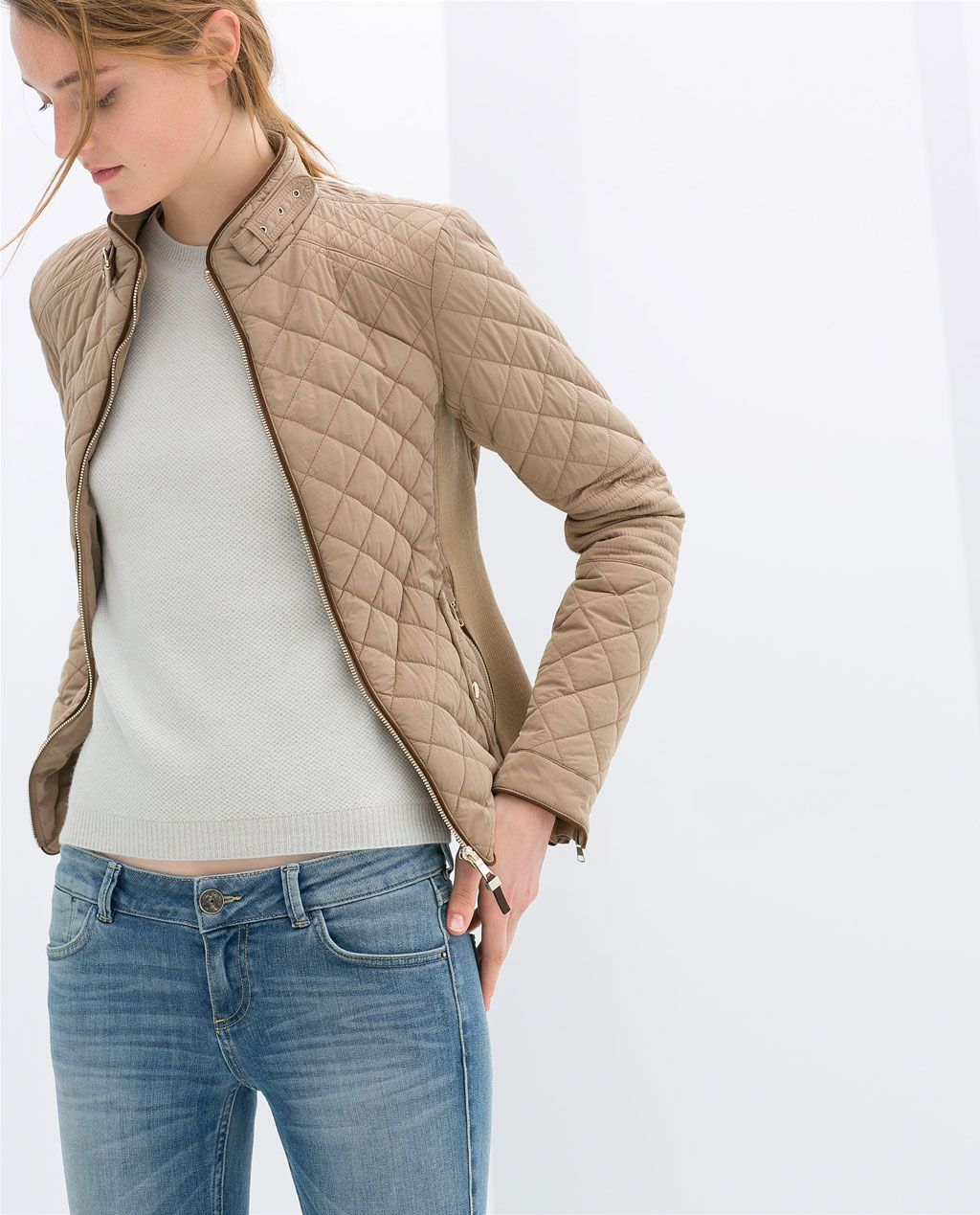 Image 2 Of Combination Quilted Jacket From Zara Clothes