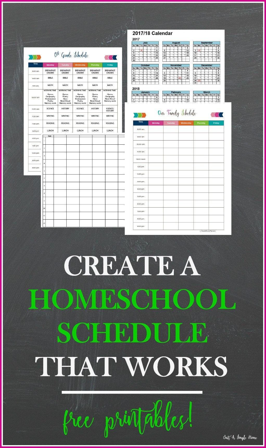 create a homeschool schedule that works homeschooling pinterest