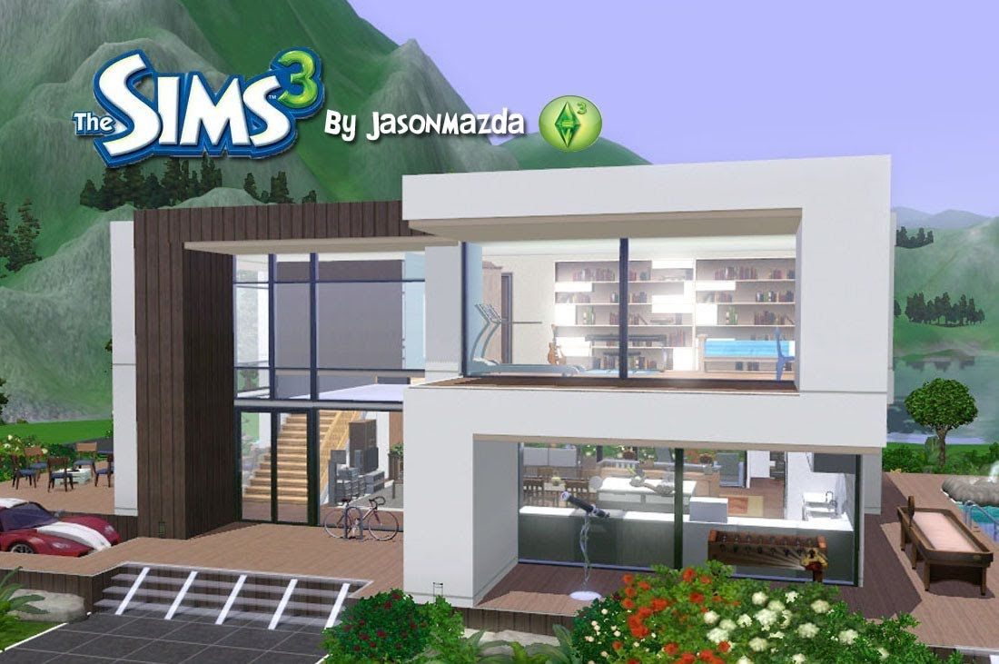 The sims 3 house designs modern villa home decor for Modern house 3