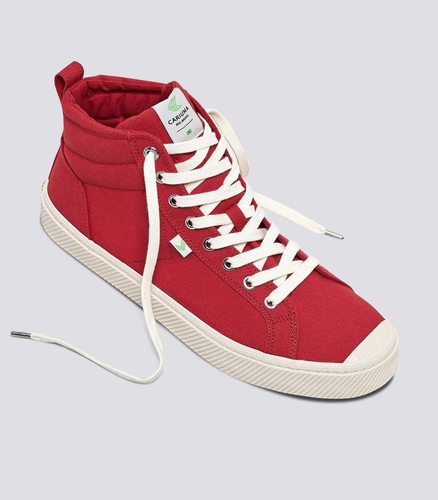 OCA High Red Canvas Sneaker Men in 2020
