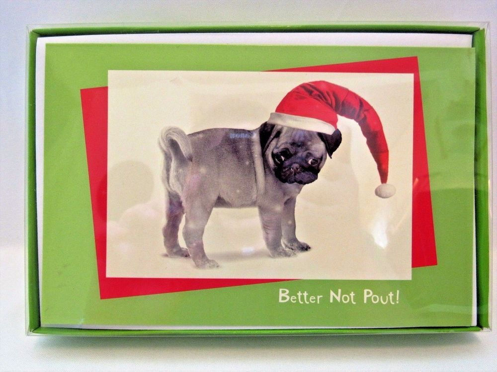 American Greetings Pug Dog Christmas Cards 16 ct Boxed New ...