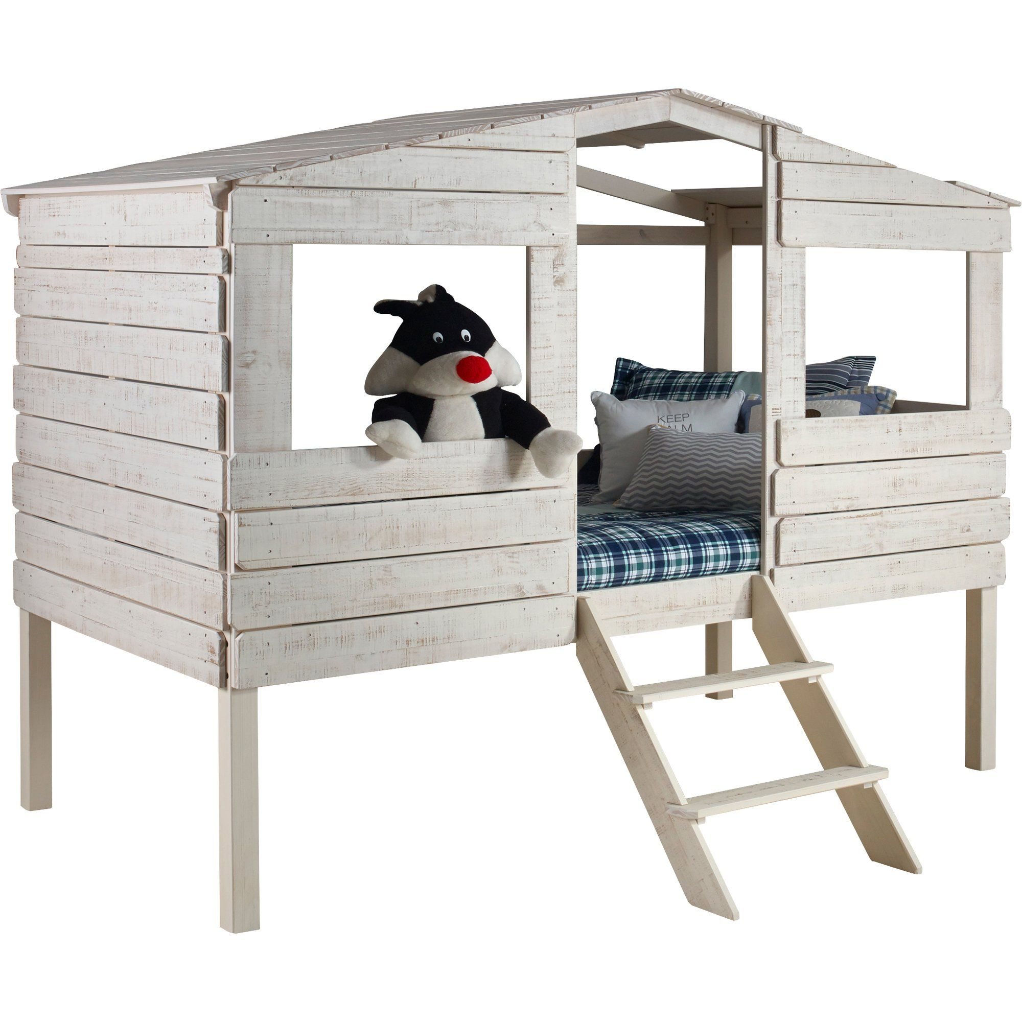 Treehouse loft bed with slide  Tree House Twin Low Loft Bed  Ty and Cam  Pinterest  Low loft