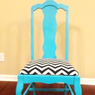 Pin By Ashley Baer On Home Decorating Chevron Chair Refurbished Chairs Traditional Chairs