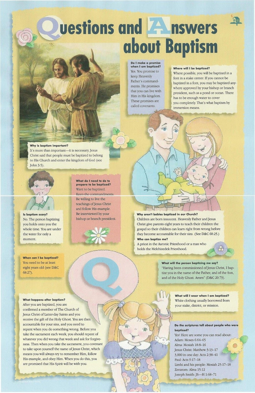 FHE: Q's about Baptism  Then read the scripture stories