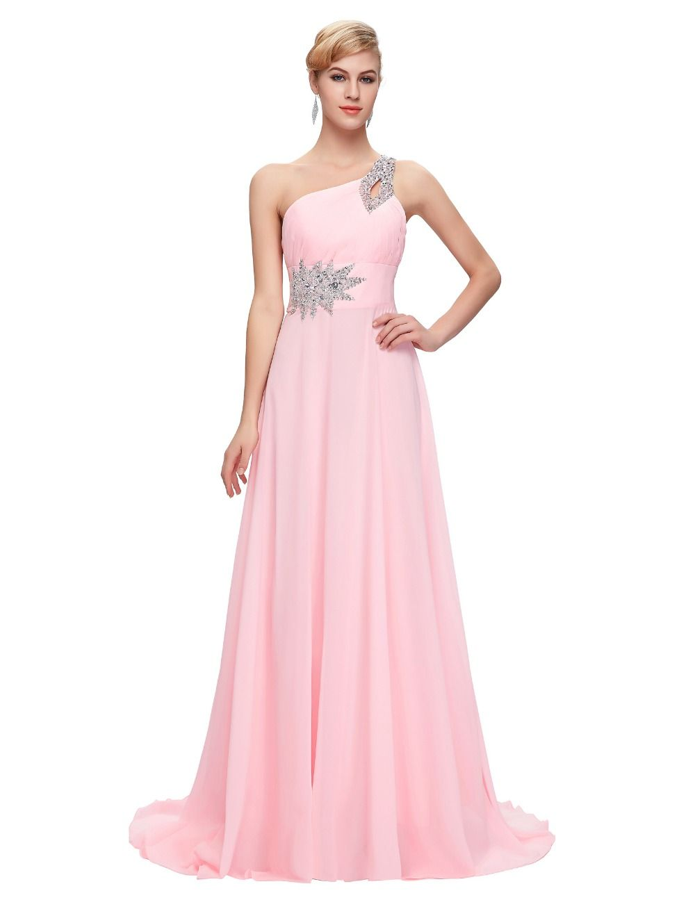 Evening Dresses Long Chiffon Robe De Soiree Elegant Formal Bandage ...