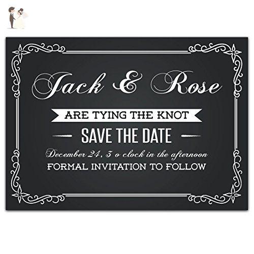 Chalkboard save the date card wedding invitation wedding party chalkboard save the date card wedding invitation wedding party invitations amazon partner stopboris Gallery