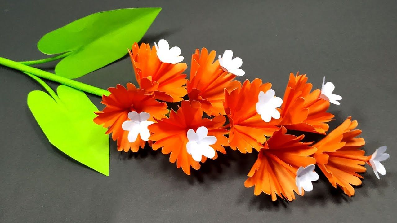 How To Make Very Beautiful Stick Flower Idea With Paper Handcraft