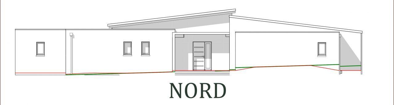 Plan De MaisonVendee  Vue De La Faade Nord  Nord Sud
