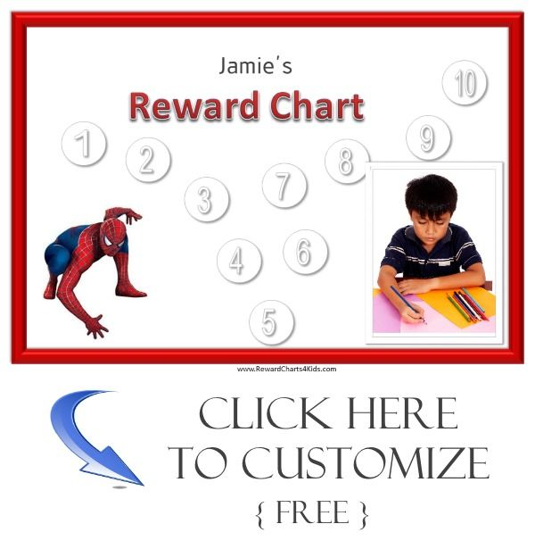 Spiderman sticker chart Behavior charts Pinterest Sticker - child reward chart template