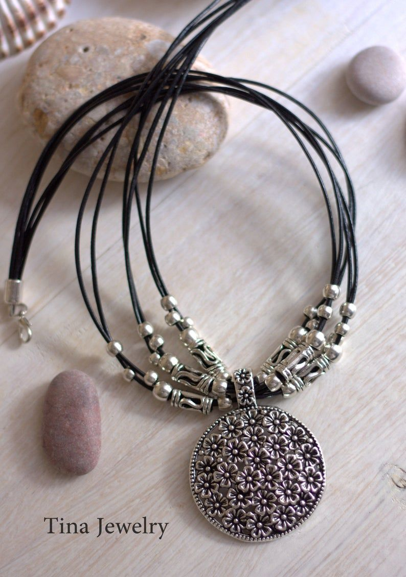 Women's gift Short necklace with locket Boho women | Etsy