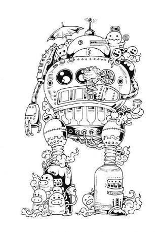 Resultado De Imagem Para Doodle Invasion Colouring Book