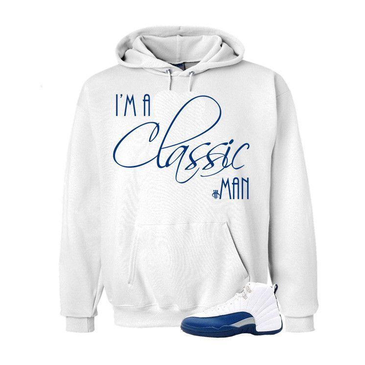 ff15f0bf1ccf34 Jordan 12 French Blue White T Shirt (Classic Man