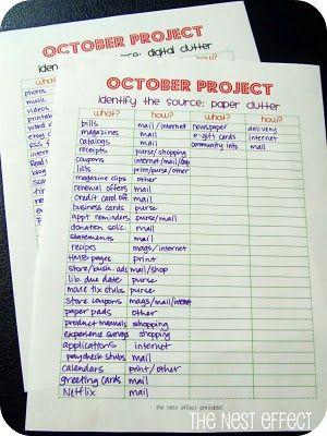 The Nest Effect: October Project: Conquer Paper Clutter