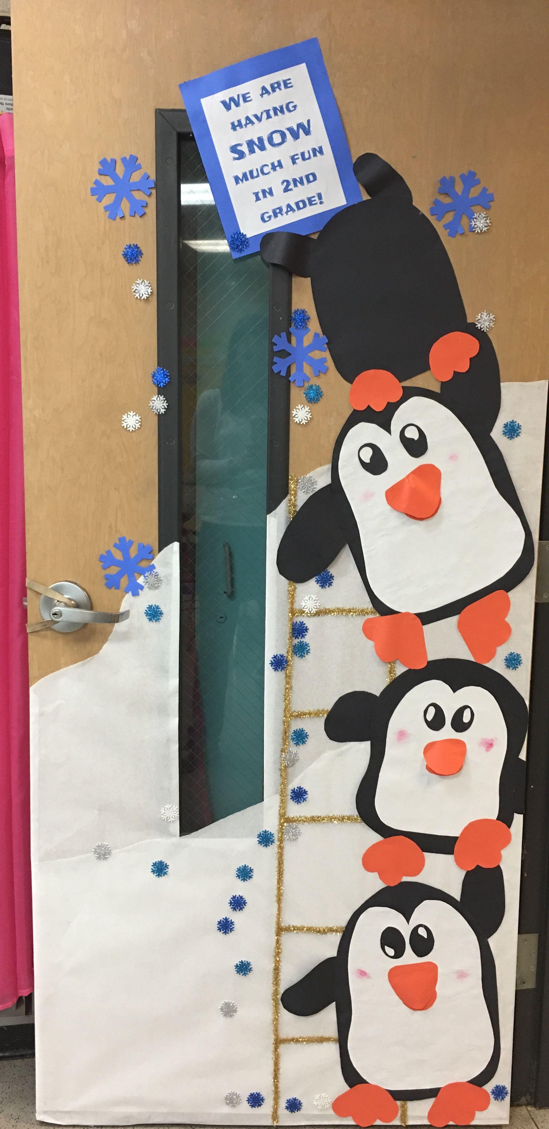 Penguin Winter Classroom Door Decorating