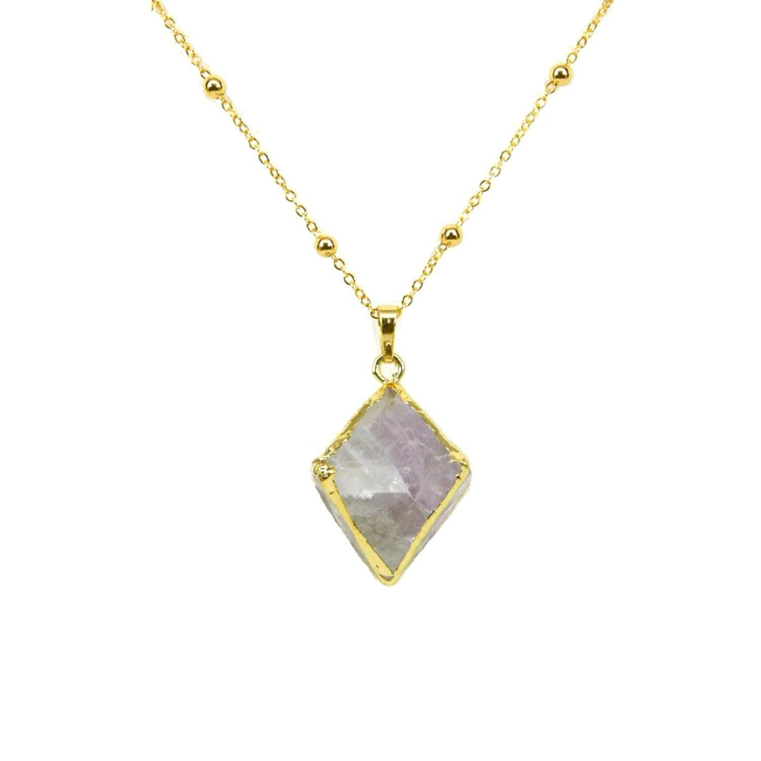 Flourite pyramid necklace products and necklaces