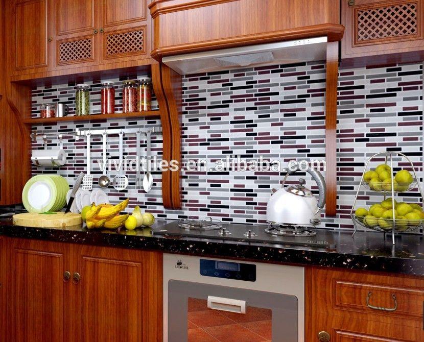 Cocina backsplash azulejos Peel y stick blanco ladrillo Metro para ...