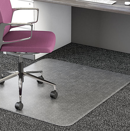 If You Have One Of These Chair Mats Make Sure To At Least Sweep It If Not Wipe It Down With A Damp Cloth Office Chair Mat Office Floor Mats Plastic