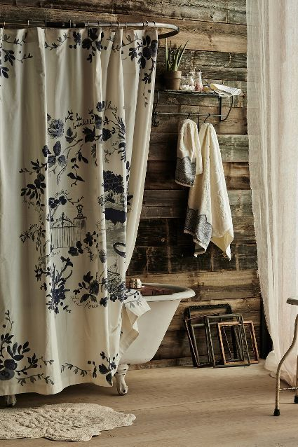 Shower Curtain Liner French Country Bathroom Country Bathroom Rustic Bathroom