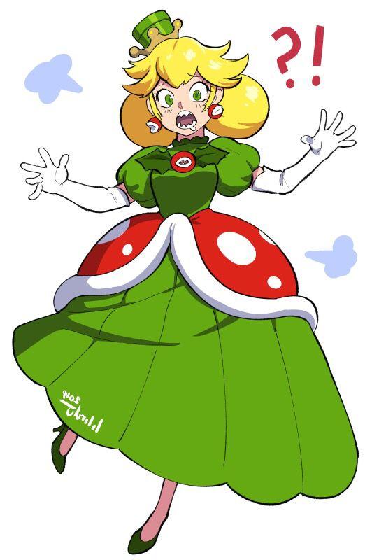 Super Mario Brothers Piranha Plant Gijinka Genderbend -1129