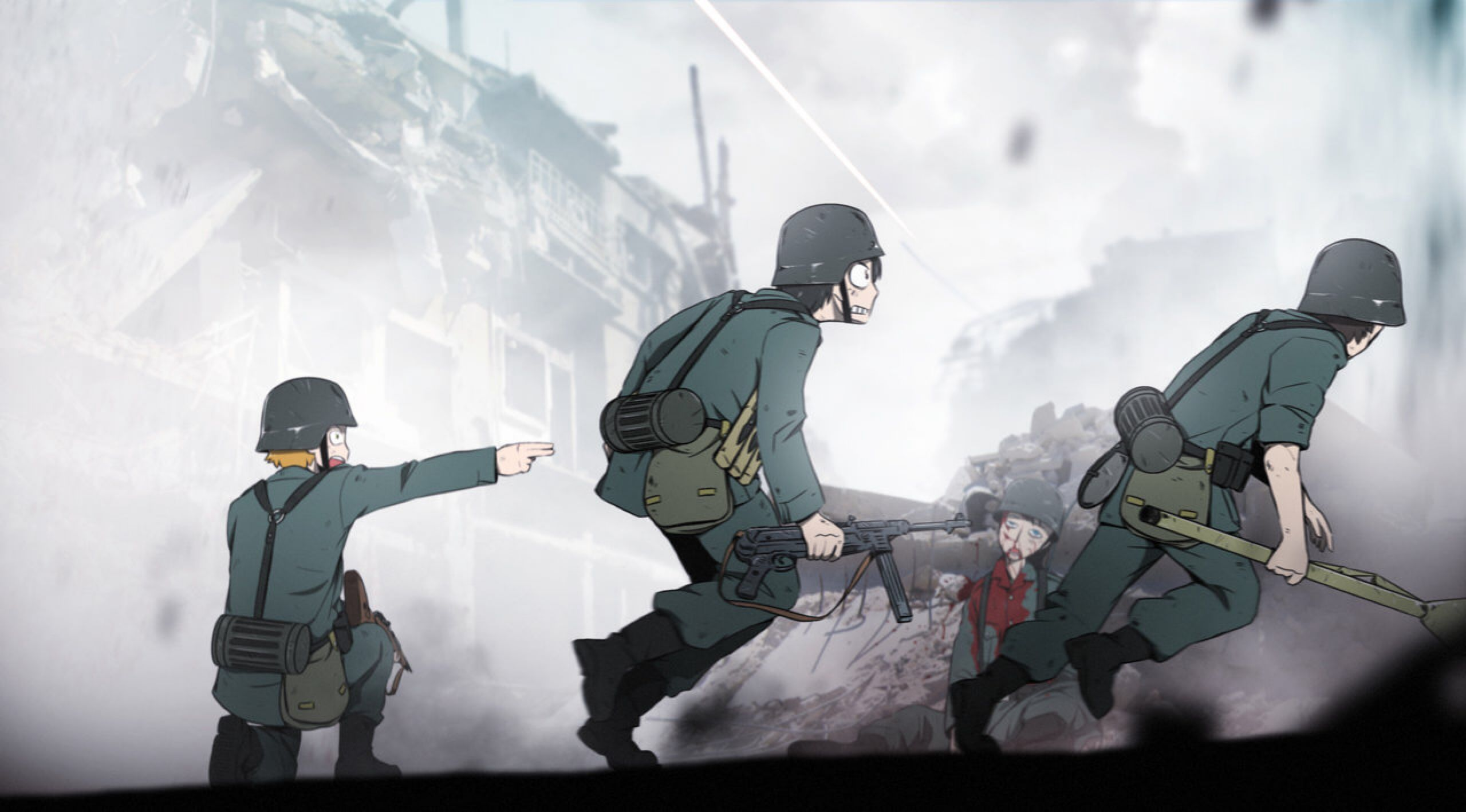 Take The Flanking Position By Xinom On Deviantart Anime Military