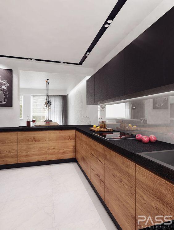 15 Trendy-Looking Modern Wood Kitchens & 15 Trendy-Looking Modern Wood Kitchens | kitchen | Pinterest | Woods ...