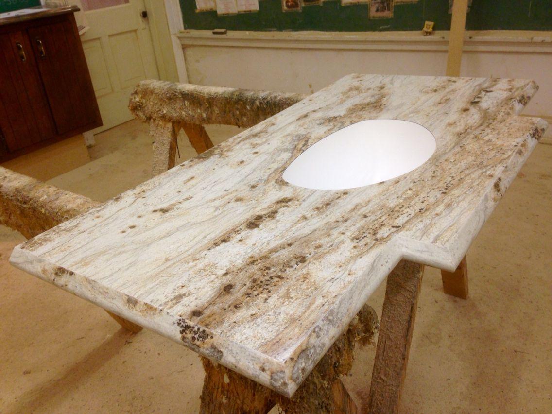 River Gold Karran Under Mount Sink Bowl Ogee Ideal Edge A Poney S Custom Countertop