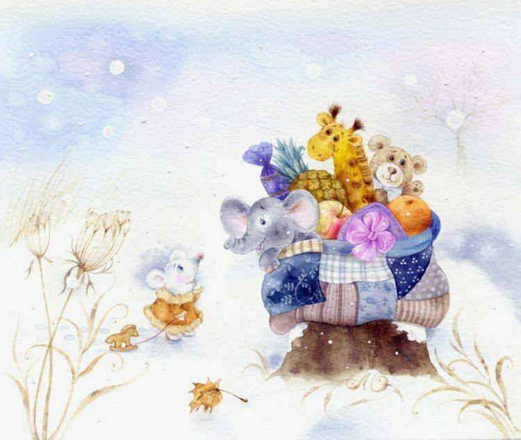 Детские открытки с мышками