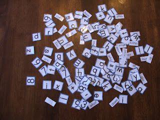Doodlebug's Homeschool: Make your Own Letter Tiles
